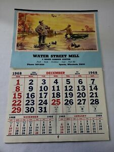 Details about 1968 Water Street Mill Sparta, WI Advertising Calendar  Feed,  Seed, Fertilizer