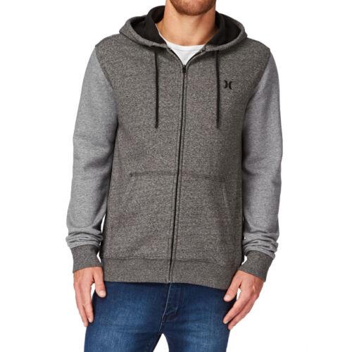 Donkergrijs Hurley Heren Medium volledige Sweatshirt met ritssluiting capuchon Fleece w8Uxa7wq