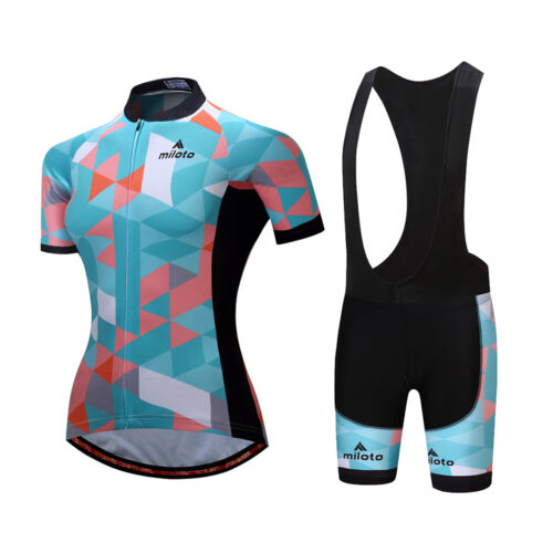 Cycling Kit Women/'s Bicycle Clothing Bike Cycle Jersey and Bib Shorts Padded Set