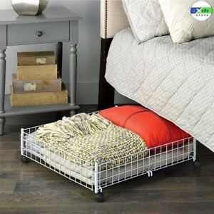Image Is Loading Under Bed Storage Rolling Cart Floor Drawer Container