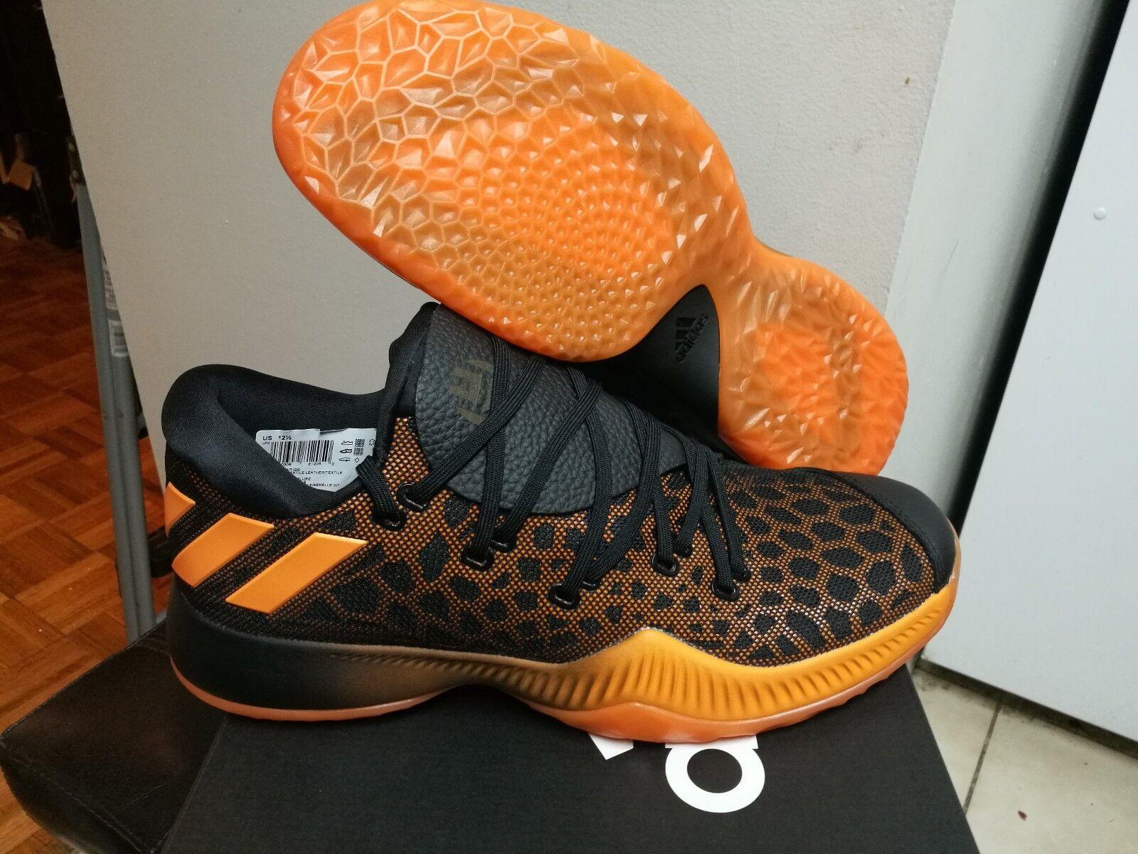 Men's Adidas James Harden Vol.1 B/E Black Orange CG4193 Size 6.5-12.5