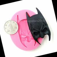 Batman Mask Silicone Mold For Fondant. Superhero. Molde Silicona Mascara Batman