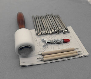 ONSALE-20Piece-hammer-embossing-tool-set-leather-craft-carving-stamp-Custom-seal