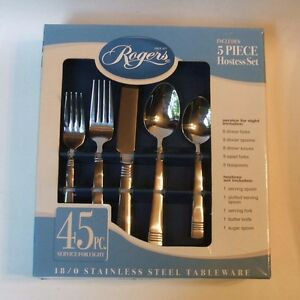 Rogers-Co-Manor-45-Pc-Set-Stainless-Steel-Flatware-Service-for-8-Plus-5-Svg-NIB