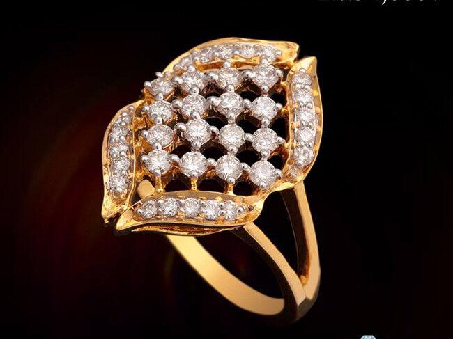 0.94ct NATURAL DIAMOND 14K YELLOW  gold WEDDING ANNIVERSARY RING