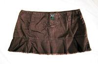 Short Brown Mini Skirt, Beachwear, Surfer, Uk Size 12, M, 32 Waist, 11 Long