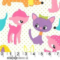 "FQ Michael Miller Kids Girls Plush Puppy (18"" x 22"") 100% Cotton Quilting Fabric"