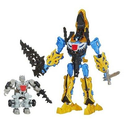 Transformers Age of Extinction Construct-Bots Silver Knight Optimus Prime and...