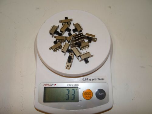 15 Stück Schalter Einbau Schiebeschalter Micro Ein//Aus Ein//Ein Vintage NOS W377
