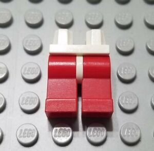 LEGO Lot of 2 Pair of Red Legs Minifigure Body Part Pieces