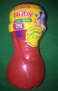 Nuby 2-Pack No-Spill Super Spout Easy Grip Cup Red /& Blue Bpa Free Ne 10 Ounce