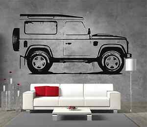 Land rover defender 90 giant vinyl sticker wall art boys for Garage land rover brest