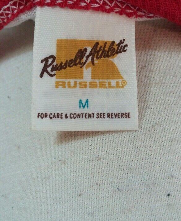 Vtg 70's 80's Russell Gold Label Thin Ringer T Sh… - image 3