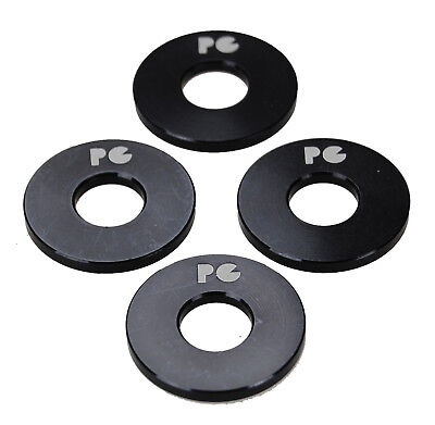 """BLACK SET OF 4 Porkchop BMX ALUMINUM Bicycle Axle Washers for 3//8/"""" axles"""