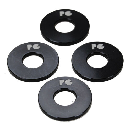 """Porkchop BMX ALUMINUM Bicycle Axle Washers for 3//8/"""" axles SET OF 4 BLACK"""