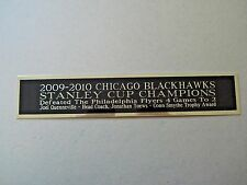 Chicago Blackhawks 2009-10 Stanley Cup Nameplate For A Hockey Jersey Case 1.25X6