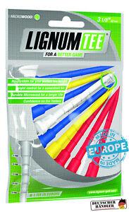 Lignum-Tees-1-Beutel-a-12-Stueck-82-mm-lang-bunt-4-farbig-fuer-alle-Driver