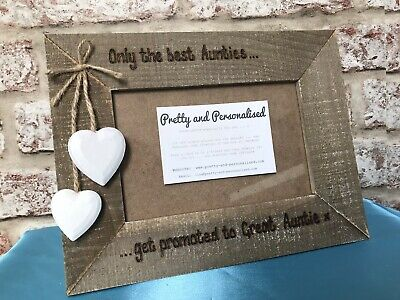 Personalised Wooden Photo Frame For Auntie Aunty Sister Mum Nan Godmother