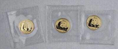 China 2011 50 Yuan 1//10 Oz 999 Gold Panda Coin GEM BU Sealed in Mint Package