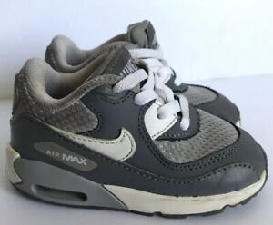 Details about NIKE AIR MAX 90 Mesh Wolf Grey, Cool Grey & White InfantToddler Sneaker size 6C