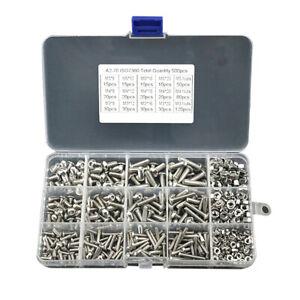 480pcs-M2-M3-M4-304-Metric-Hex-Socket-Head-Cap-Screws-Bolt-Nut-Assortment-Set