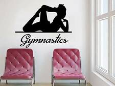 Gymnastics Wall Decal Girl Sport Dancer Vinyl Sticker Decals Bedroom Decor NV143