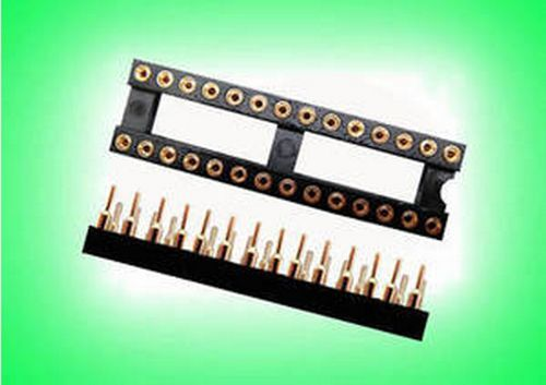 2pcs 28 PIN GOLD DIP IC SOCKET PANEL ADAPTER SWAP,G28S