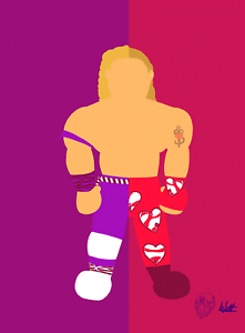 Shawn-Michaels-X-The-Rockers-Wrestling-Alter-Ego-Art-Series-Print-8x10-WWF-WCW