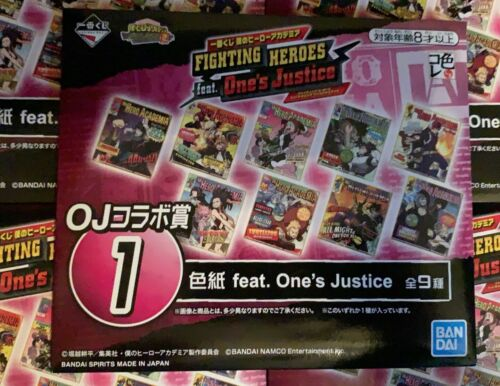 FIGHTING HEROS One/'s Justice 2 ICHIBANKUJI MY HERO ACADEMIA Autograph Ver