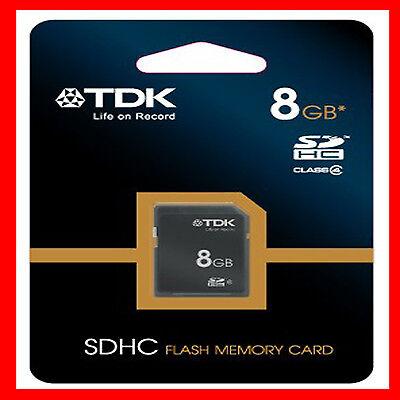 TDK 8GB SD HC HIGH CAPACITY SDHC MEMORY CARD DIGITAL CAMERA CLASS-4 FIRST