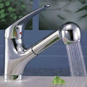 2 Functions Kitchen Bathroom Faucet Pull Out Sprayer ...