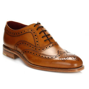 Herrenschuhe Loake Mens Formal Shoes Leather Smarts Lace Up Dress Fearnley Tan Brown Brogues Hindernis Entfernen Kleidung & Accessoires