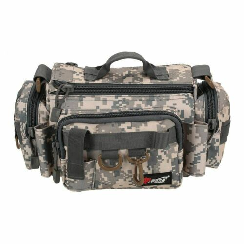 Fishing Tackle Shoulder Bag Bait Lure Reel Box Waist Camouflage Travel Outdoor