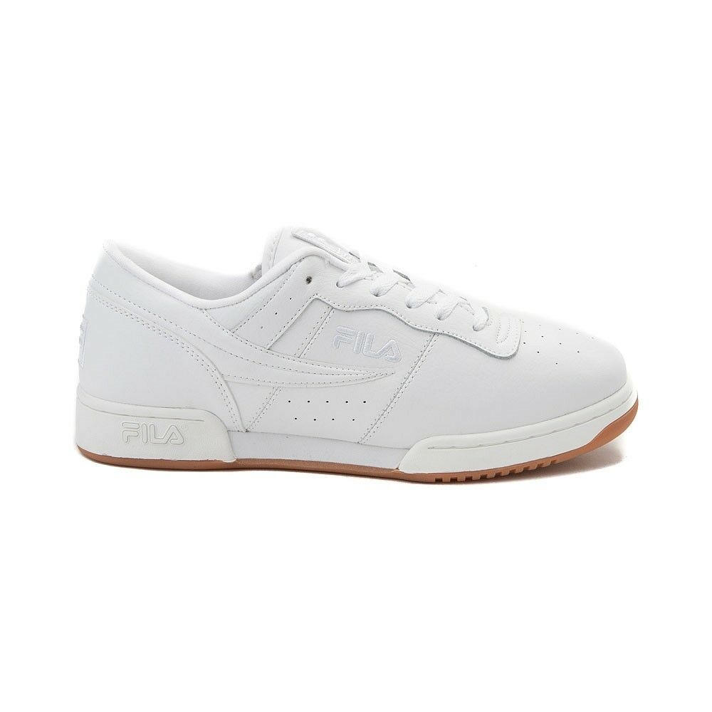 Men's Fila Original Fitness Zipper 1FM00009-163 White gold Gum Brand New