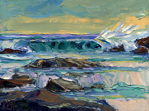 DUSK-BREAKER-Seascape-Expression-Oil-Painting-Palette-Knives-12x16-034-050616-KEN