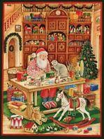 Richard Sellmer Verlag Traditional German Paper Advent Calendar Santa's Workshop