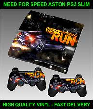 Playstation 3 Slimline Console Sticker Skin Need Speed Aston & 2 X Pad Skins