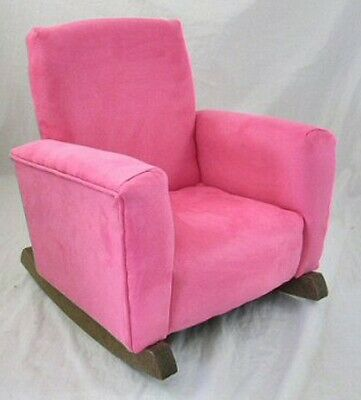 New Children/'s Upholstered Rocking Chair Sassy Pink Suede Toddle Rock for Kid
