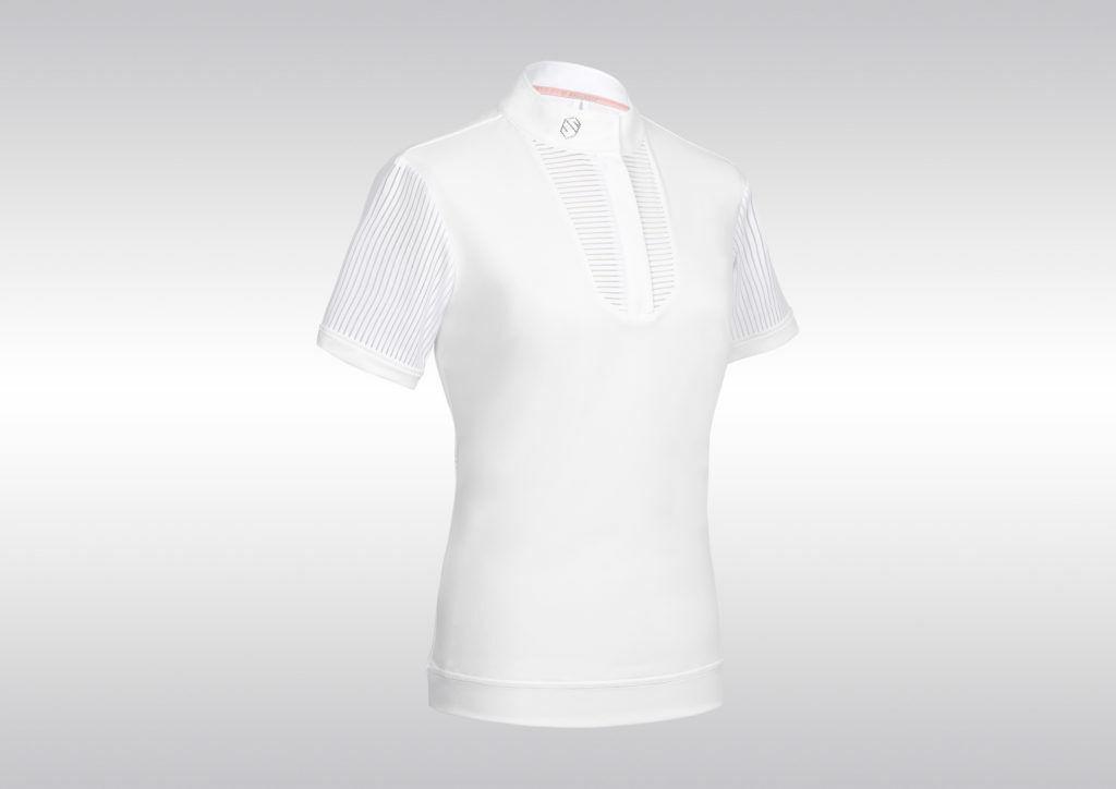 Samshield Apolline Competencia Espectáculo Camisa señoras de manga corta blancoo Tamaño L