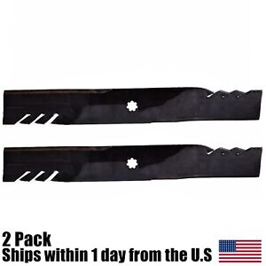 "2PK G5 Mulching Blades for 42 fits John Deere X300 LA120 AM137327 AM141034/"""