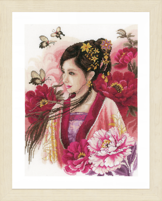 Evenweave - PN-0169168 Lanarte Asian Lady in Blue Counted Cross Stitch Kit