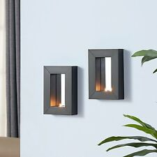 Danya B™ Set of 2 Mirror Tealight Candle Sconces with Metal Frame SE1527