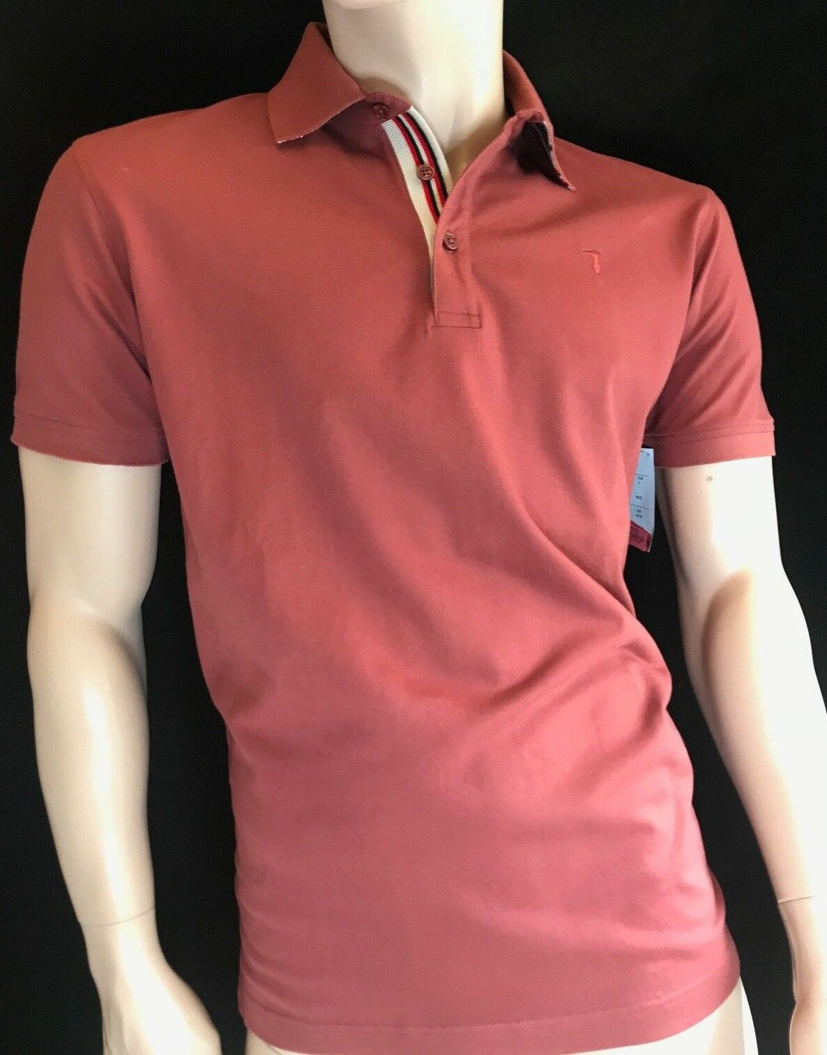 BNWT TRUSSARDI JEANS Polo Close Fit Shirt Größe Chest 42  Length 27.5   | Erlesene Materialien