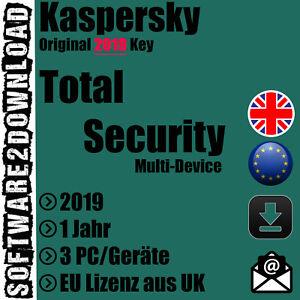 Kaspersky Total Security 2019 3 PC / Geräte 1 Jahr ...