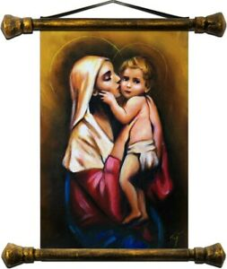 Religion-Mary-Handmade-Oil-Painting-Picture-Oil-Frame-Pictures-G01536