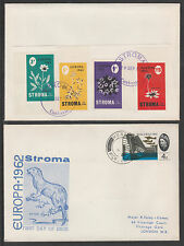 GB Locals - Stroma 3449 - 1965 Europa imperf set of FLOWERS on cover to London