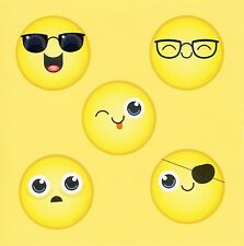 Large Stickers 10 Emoji Faces Party Favors Rewards