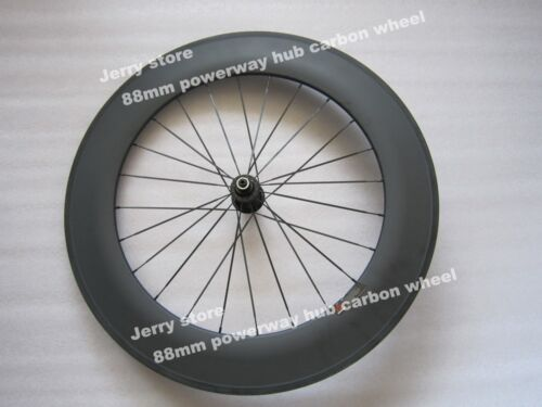 88mm only rear wheel 700C full carbon fiber clincher wheel titanium material