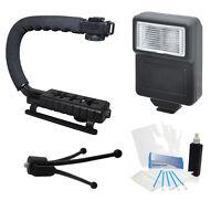 Camera Flash Grip Stabilizer Handle Accessories For Panasonic Lumix Dmc-zs40