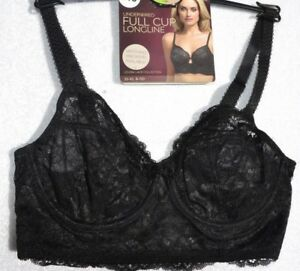 New Ex M/&S Underwired Lace Non-Padded Full Cup Bra Black Sizes 32-42 B-C-D-DD